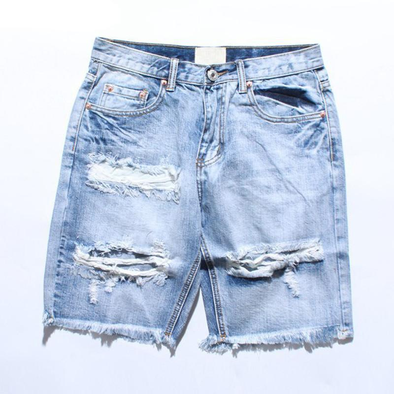 Cool Destroyed Denim Shorts