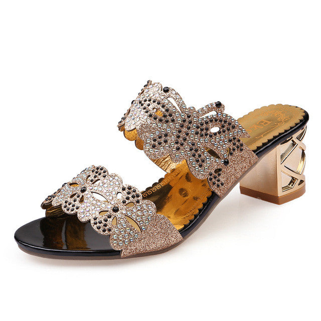 Square Heel Party Shoes