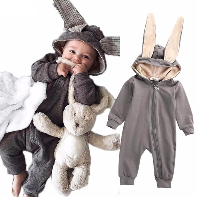 Cute Rabbit Ear Romper Jumpsuits