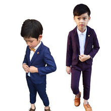 Preppy Blazer Suit Set with Breast-pin