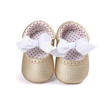 Bow-knot PU Leather Crib Shoes