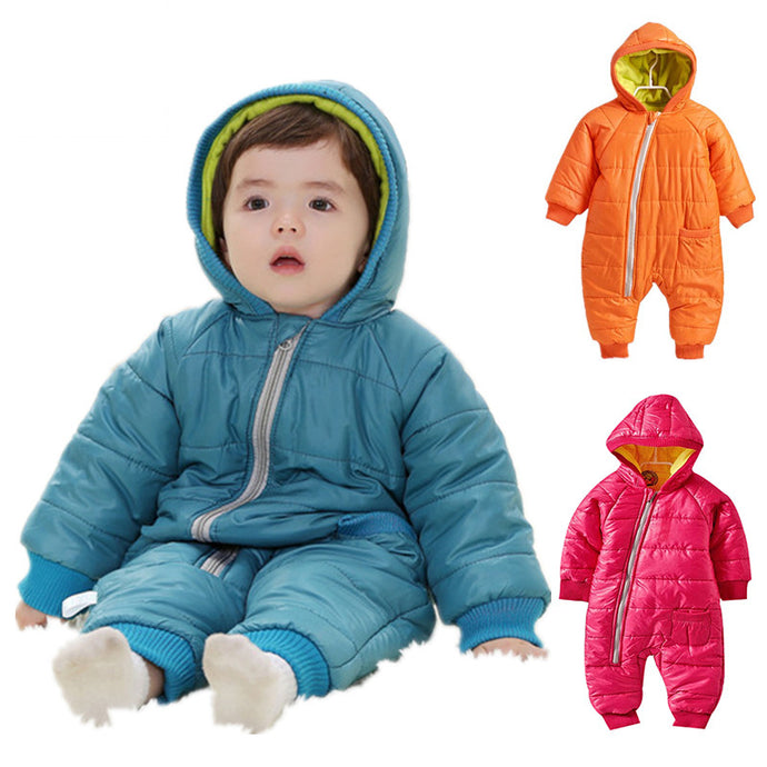 Cotton Padded Snowsuit Romper