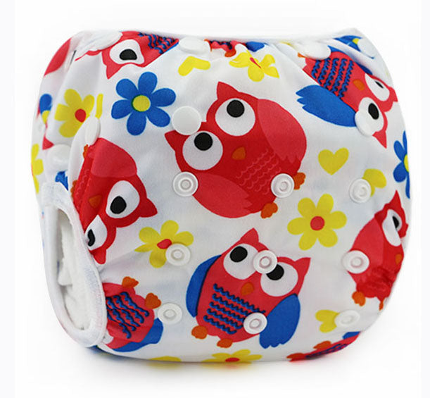 Cute Cartoon Adjustable Diaper Pants