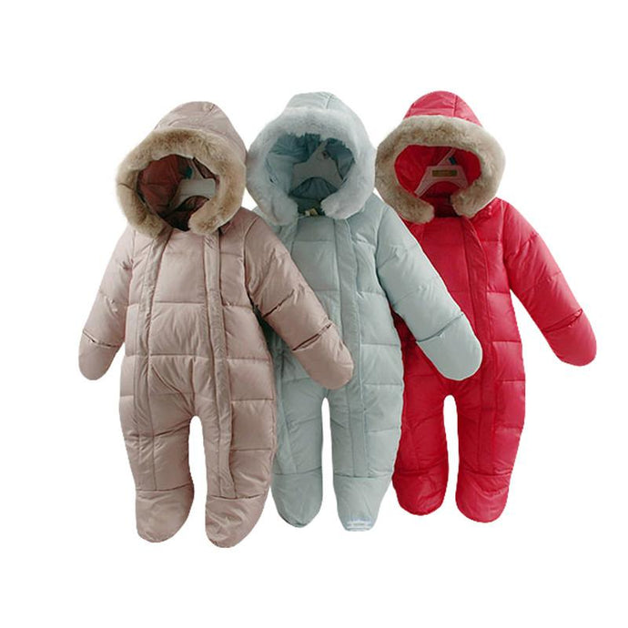 Winter Feather Thicken Down Snowsuits