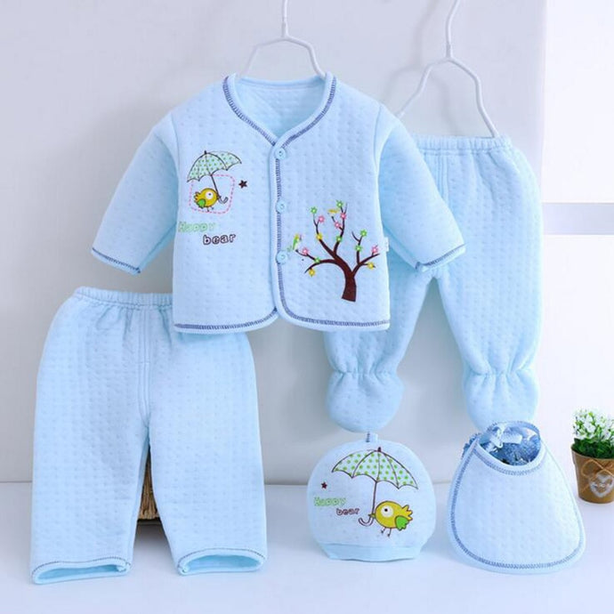 5pcs/set Cotton Warm Suits