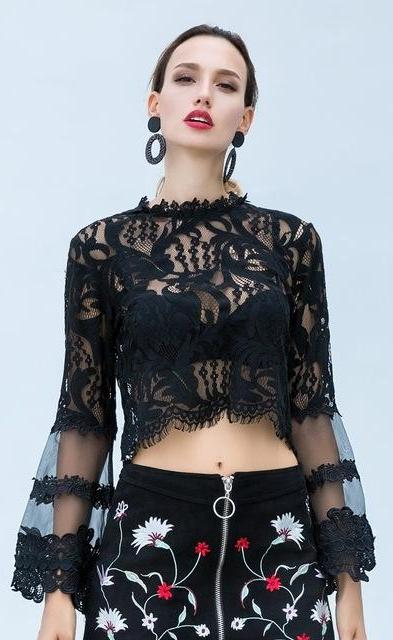 Sexy Lace See-through Shirts