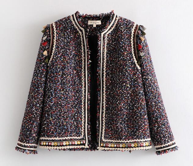 Ethnic Mix Tassel Weave Jacket