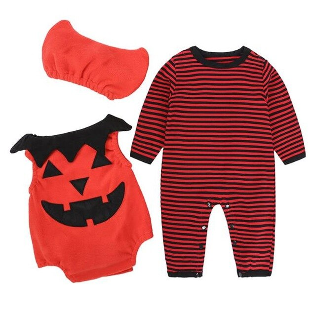 Romper Pumpkin Cotton Suit