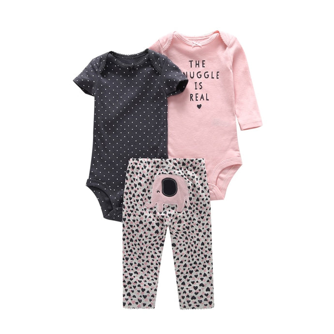 3pcs Pullover Bodysuit + Pants