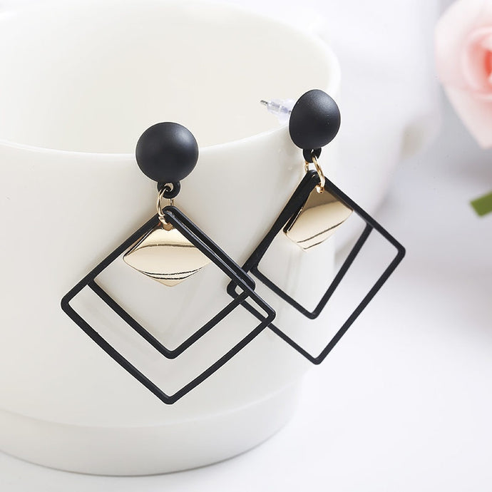 Retro Fashion Statement Earrings