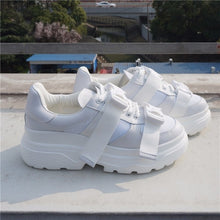 Genuine Leather Chunky Sneakers