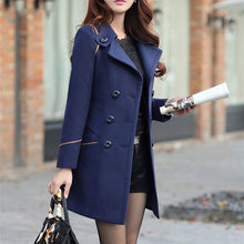 Woolen Long Trench Coat
