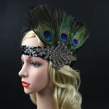 Vintage Flapper Feather Headband