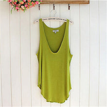 Sleeveless V Neck Loose Tank Tops