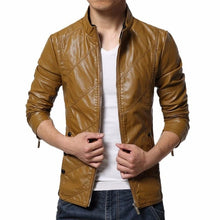 Synthetic Leather Slim Jacket