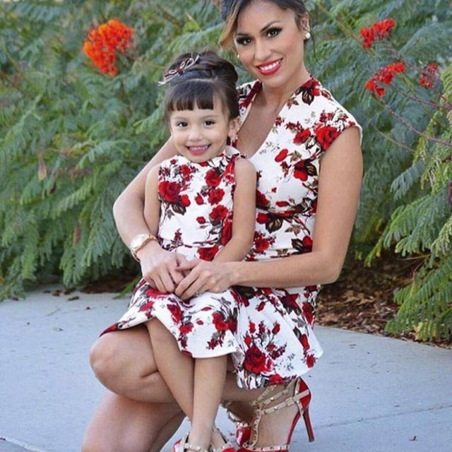 Floral Print Matching Outfits