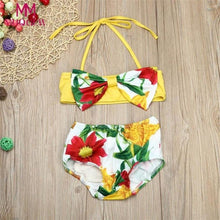 Floral Spandex Bathing Swimsuit
