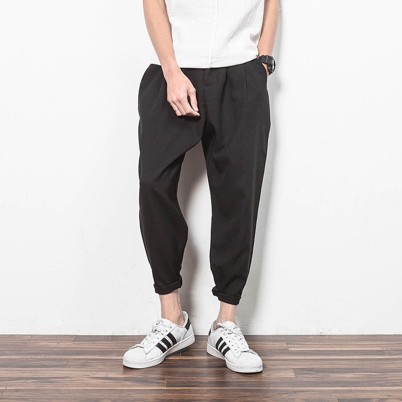 Men Pants - Unique Retro Design Pocket Harem Pants