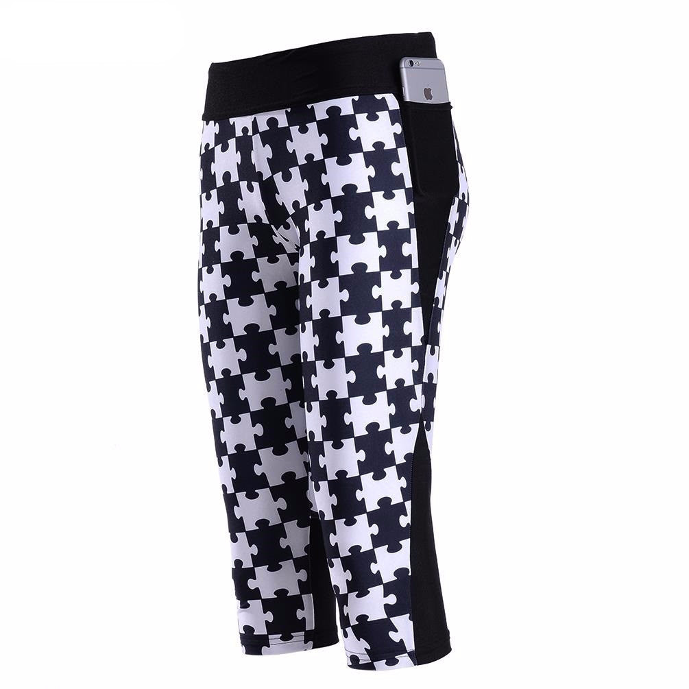 women Pants - Print Pocket pants