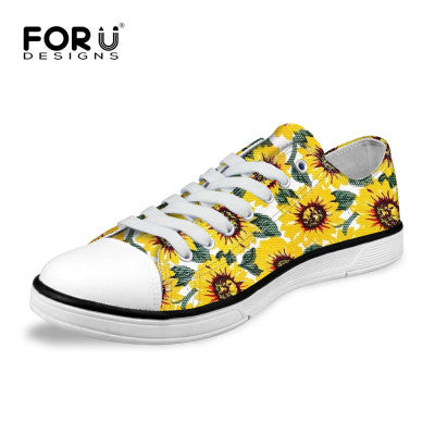 Women Shoes - Happy Sunflower