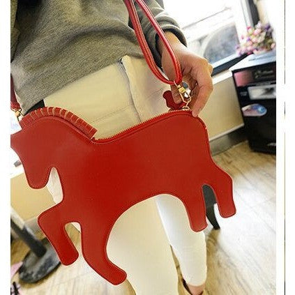 Women clutch - Red unicorn