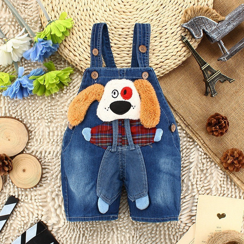 Kids Overall - Dog 3D Jeans Overalls