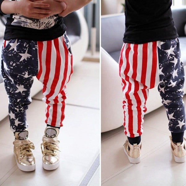 Kids Pants - Stars Stripes Harem