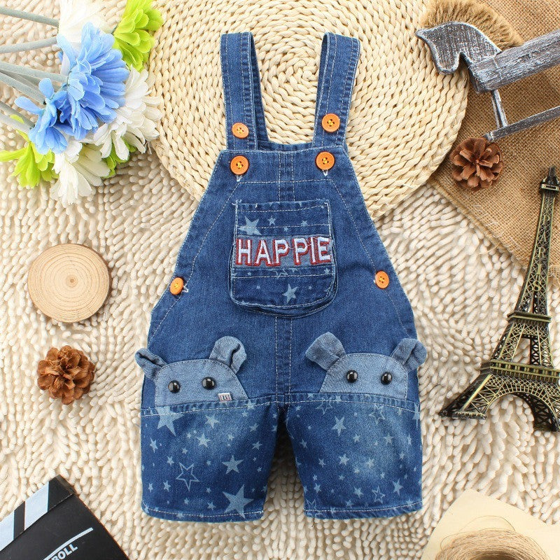 Kids Overall -  Mouse 3D Jeans Overalls