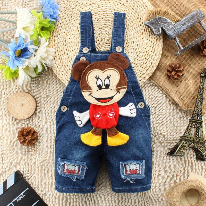 Kids Overall - Mickey 3D Jeans Overalls