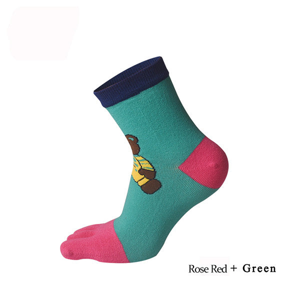 Women Socks - bear five fingers