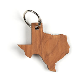 Texas State Wood Keychain