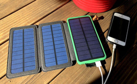 Travel Battery Bank & Solar Charger
