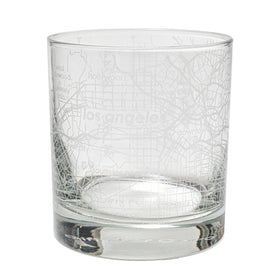 Home Town Maps Rocks Glass - Set of 2