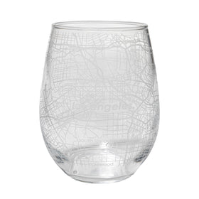 Home Town Maps Stemless Wine Glass - Set of 2