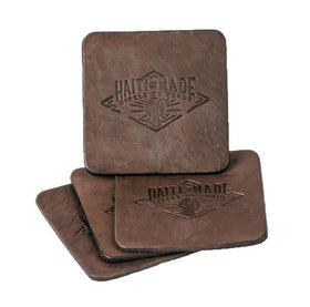 Handmade Leather Coaster Set - Gifts For Good