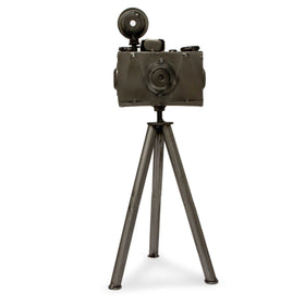 Upcycled Metal Camera Sculpture