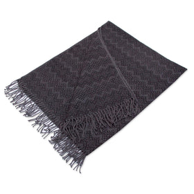 Smokey Black Diamonds Throw Blanket