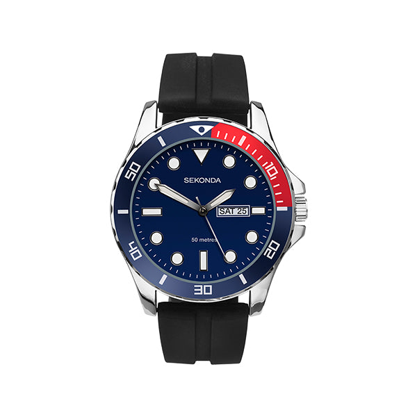 Sekonda Gents Watch - Blue Dial With Batons