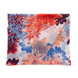 Morgan And Oats - Sunburst Papaya/ Blue-100% Cotton Beach Wrap
