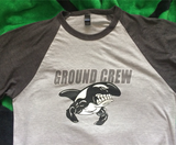 GROUND CREW Unisex 3/4 sleeve Raglan shirt