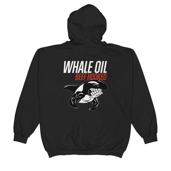 WHALE OIL BEEF HOOKED Unisex  Zip Hooded Sweatshirt