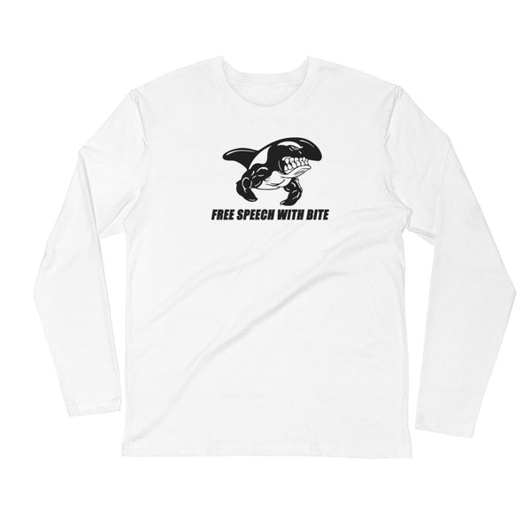 FREE SPEECH WITH BITE Long Sleeve Fitted Crew T-shirt