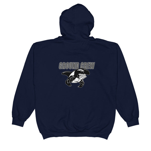 GROUND CREW Unisex  Zip Hooded Sweatshirt