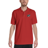 Red Embroidered Polo Shirt