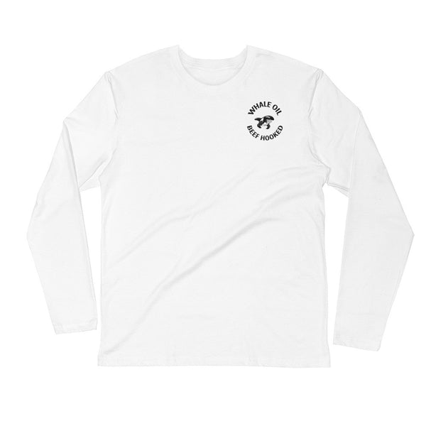 Whaleoil Biker PATCH Long Sleeve Fitted Crew T-Shirt