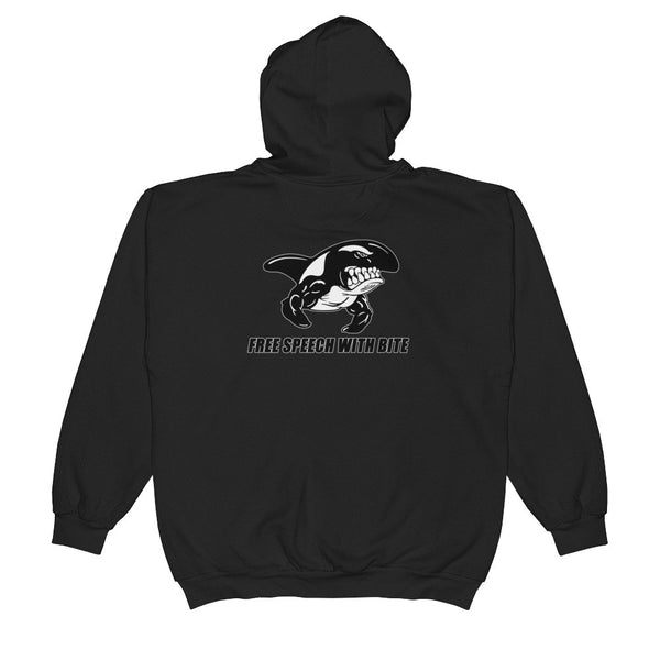 FREE SPEECH WITH BITE Unisex  Zip Hooded Sweatshirt