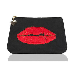 Emma Lomax Luscious Lips Black Makeup Bag - GreenBeautyKoko