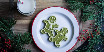 MATCHA SHORTBREAD MEN | WITH WHITE CHOCOLATE PIPING