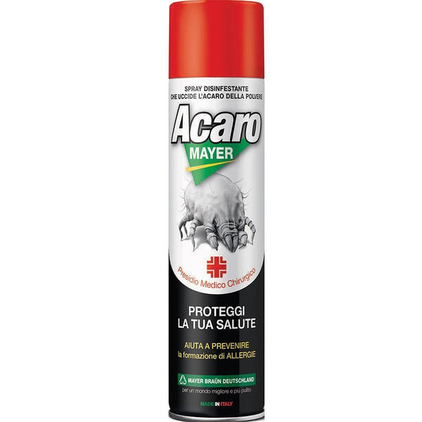"Spray Antiacaro Disinfettante Per Materassi Tessuti Divano""ACAROMAYER"" 400 ml