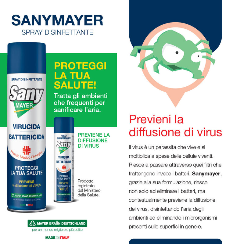 4x Sanymayer 400ml+1 Sanymayer 75ml